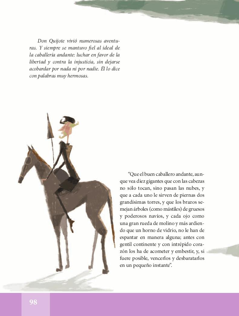 Don Quijote de la Mancha - Español Lecturas 5to ~ Apoyo
