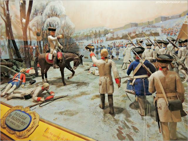 Maqueta de la Batalla de Sainte-Foy en el Museo de la Ciudadela