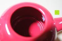 Kanne innen: Porzellan Teekannenservice von Original First Tea (Rot)