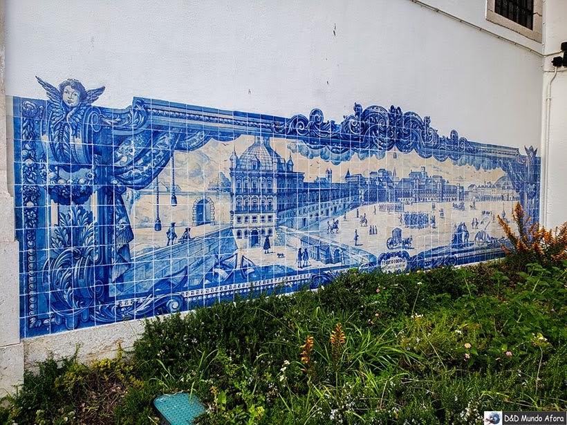 Azulejos no Miradouro de Santa Luzia - o que  fazer em Lisboa