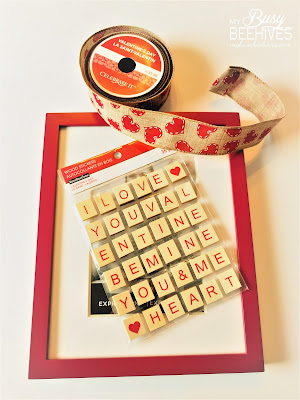 Valentine's Day Scrabble Tile Art supplies