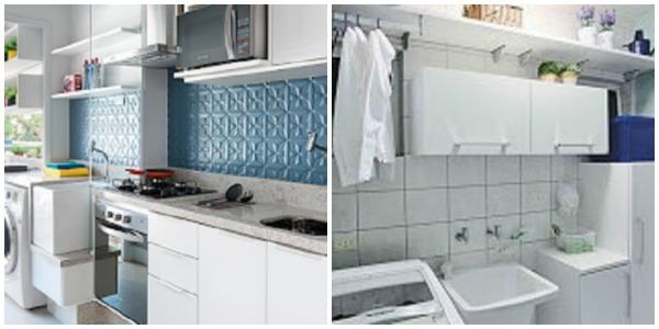 imagem de cozinha e lavanderia em ordem