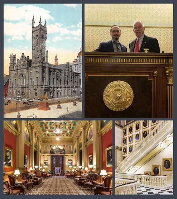 Travis Simpkins and R.W. Thomas Gamon, Grand Master of the Grand Lodge of Pennsylvania
