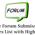 Free Top High PR 9 and PR 8 Dofollow Forum Site List