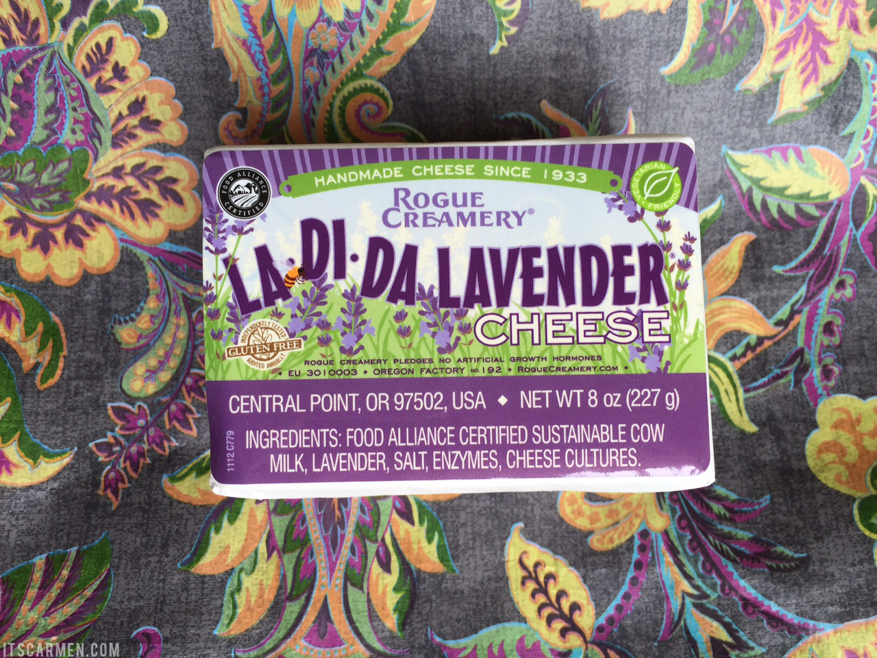 lavender cheddar cheese