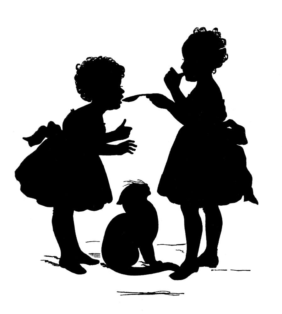 clip art girl silhouette - photo #40