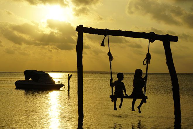Sunset di salah satu pantai di Karimunjawa