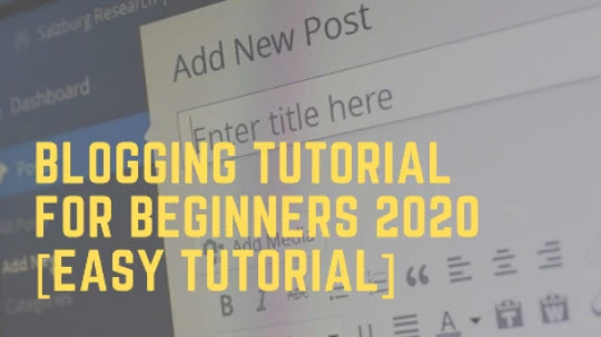Blogging Tutorial For Beginners 2020