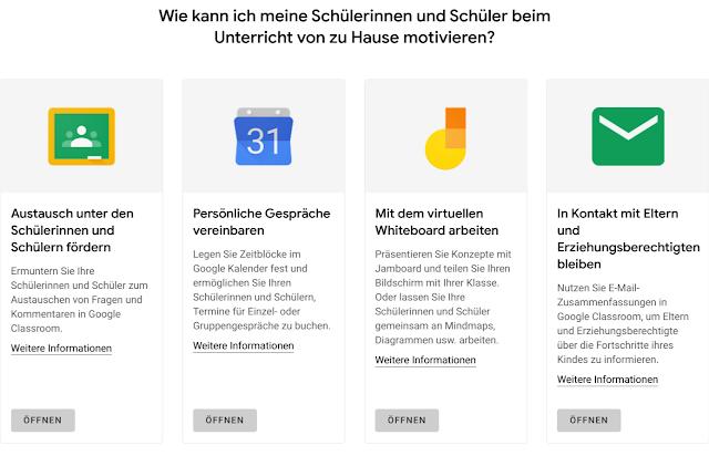 Screenshot der Plattform Schule von Zuhause
