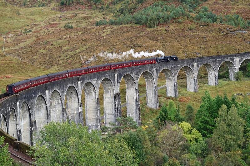 Glenfinnan Viaduct, Scotland - The Longest Concrete Railway Bridge In Scotland