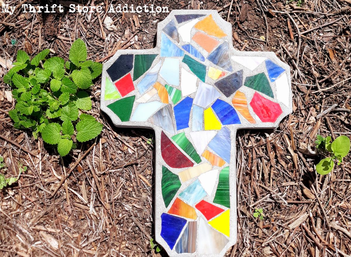 Easter garden crosses