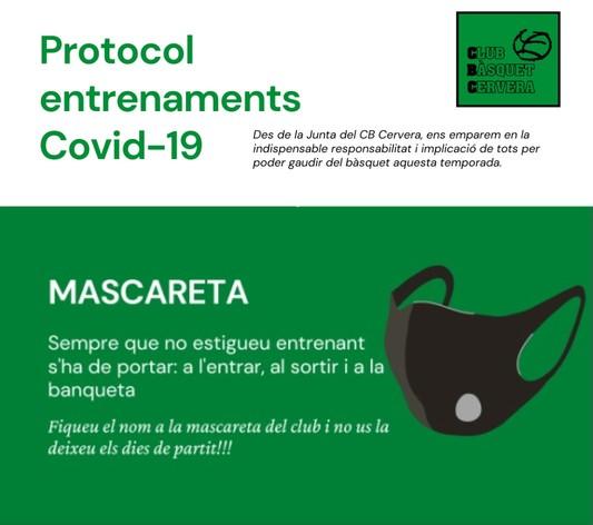 Protocol d'entrenaments COVID