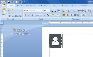 Cara Input Ikon Font Awesome Di Microsoft Word 2