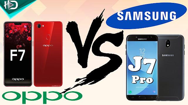 Galaxy J7 Pro Vs Oppo F7