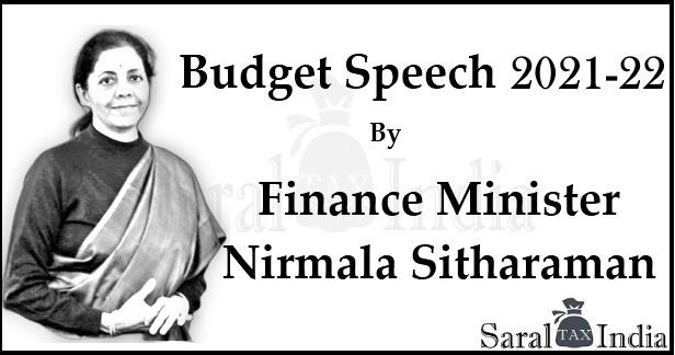 Budget 2021-2022  Speech of  Nirmala Sitharaman