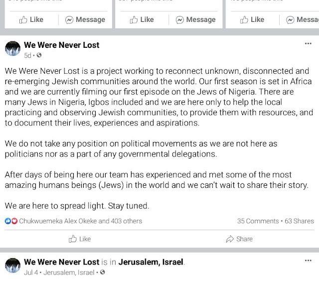 "Alt: = ""screenshot of we were never lost facebook page post"""