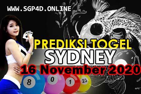 Prediksi Togel Sydney 16 November 2020