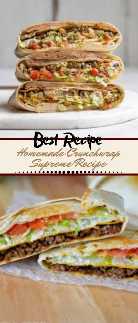 Homemade Crunchwrap Supreme Recipe #dinnerrecipe #food #amazingrecipe #easyrecipe