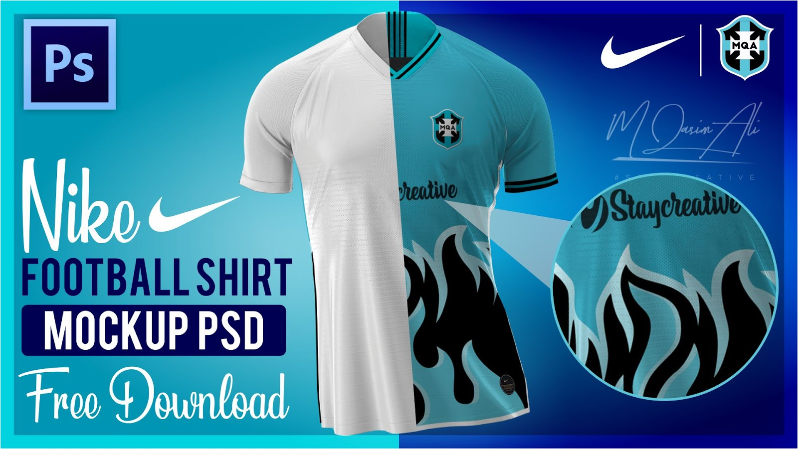 Nike Football Shirt Mockup Psd File Free Download By M Qasim Ali