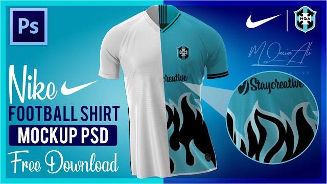 Download Nike Football Shirt Mockup PSD file Free Download by M ...