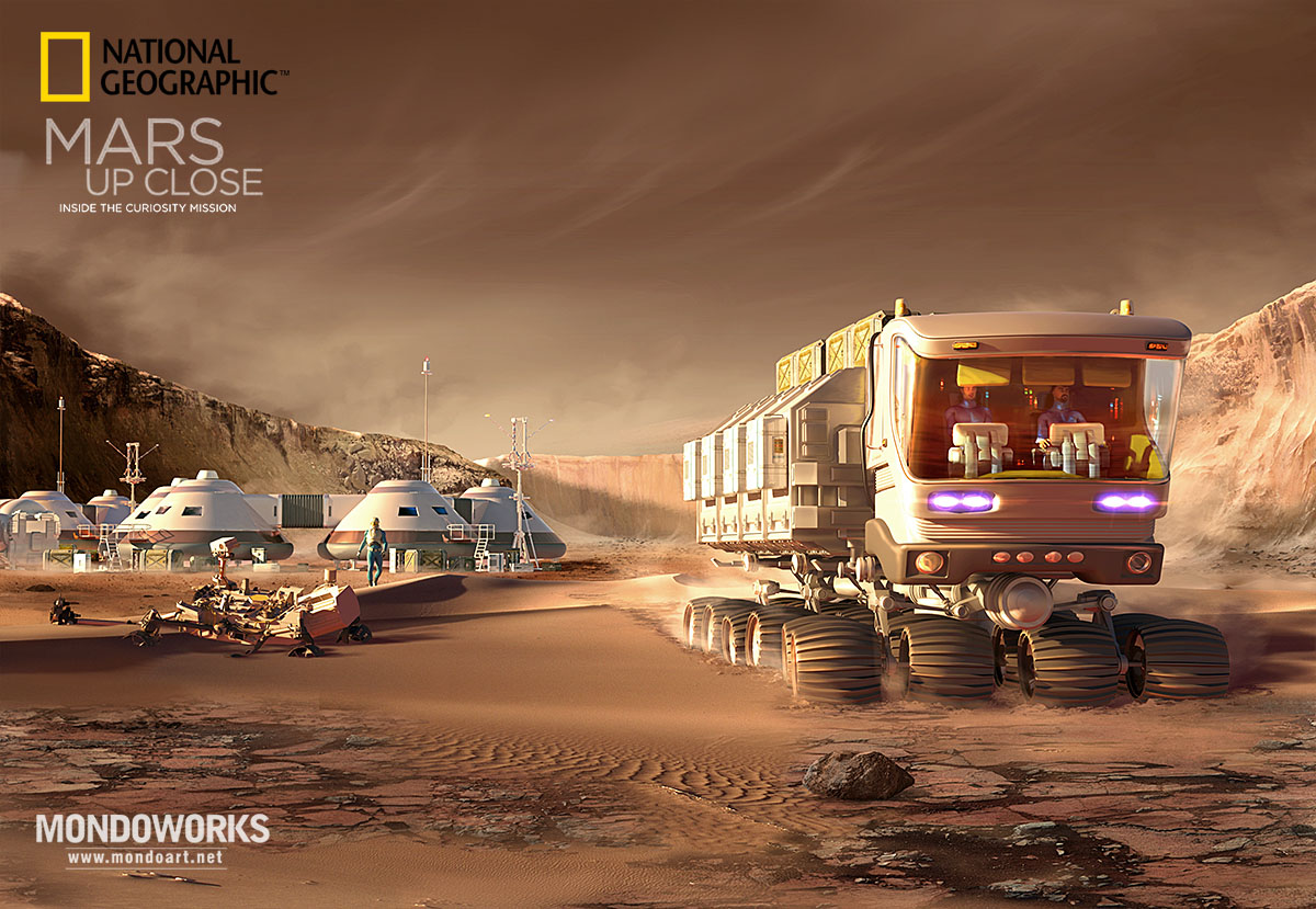 Mars base by Mondolithic Studios for National Geographic
