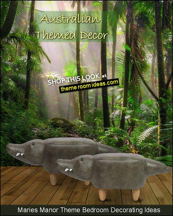crocodile footstool tropical queensland australian tropics mural crocodiles