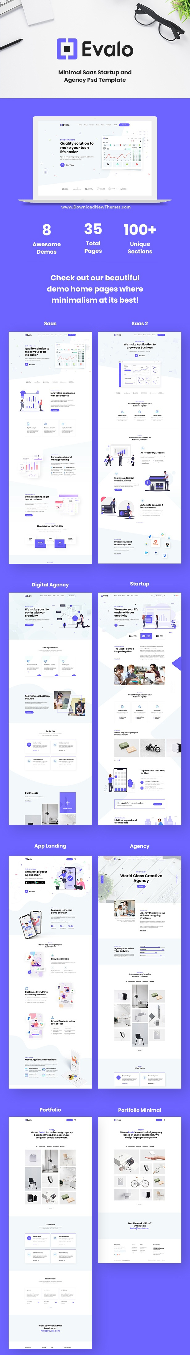 Saas Startup and Agency Website Template
