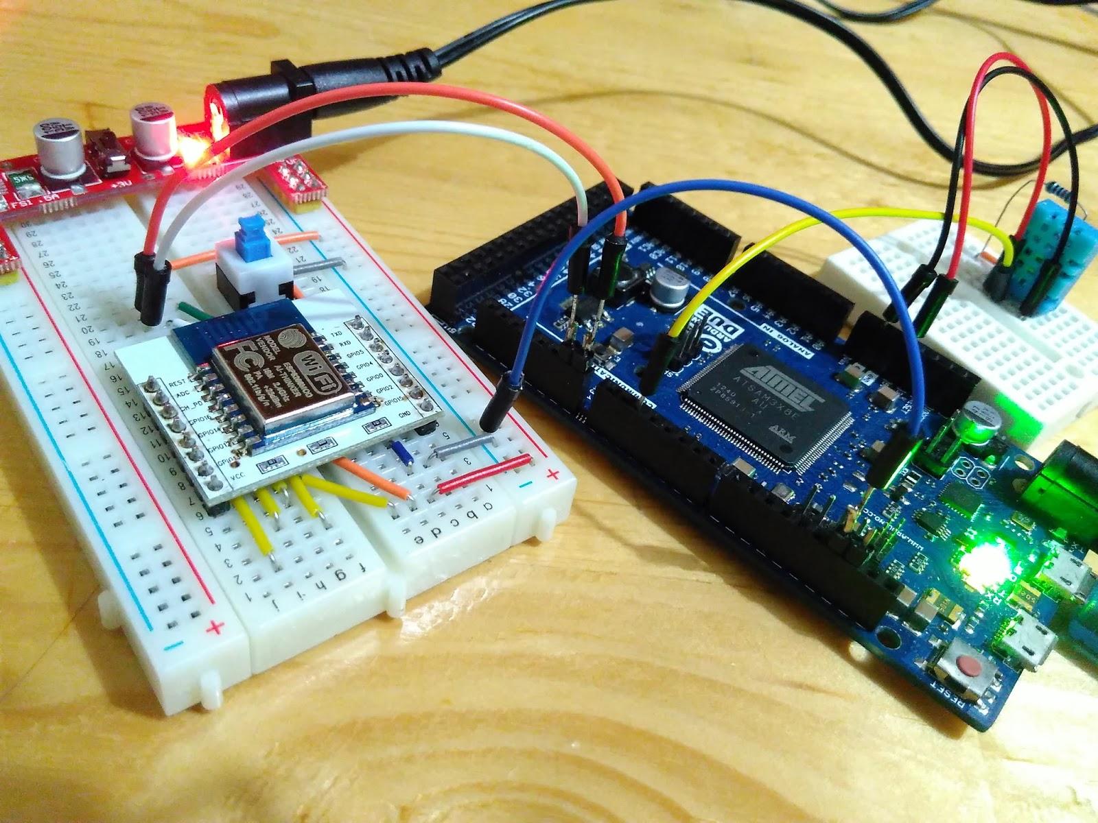 Arduino-er: Arduino Due + ESP8266 + DHT11, to update dweet io