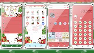 Tema Merry Christmas Hello Kitty untuk Vivo 4