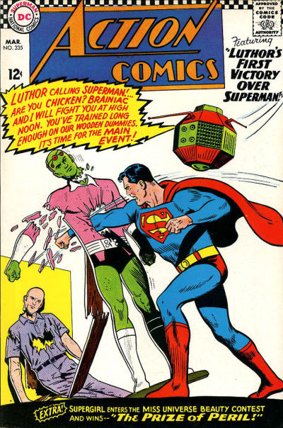 Episode #394 Part IV: Superman Comic Book Cover Dated March 1966: Action Comics #335!