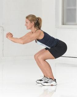 تمرين Ski Squat