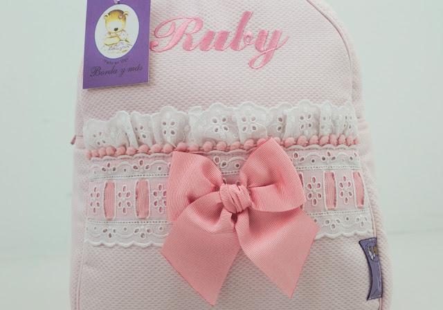 mochila lencera rosa