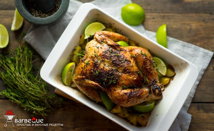 Курица с пряностями и соком лайма