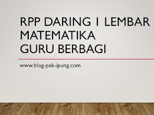 RPP Daring 1 Lembar Matematika Guru Berbagi