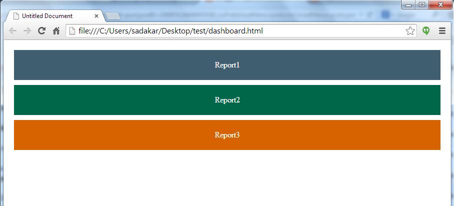 Responsive Jasper dashboard designing using visualize js +
