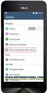 Cara Factory Reset Asus Zenfone 5 Ke Setelan Pabrik