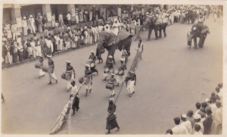 Procession on a Street with Musicians and Elephants - Date Unknown