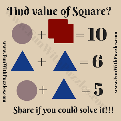 Easy Math Equation Puzzle in Image for Kids