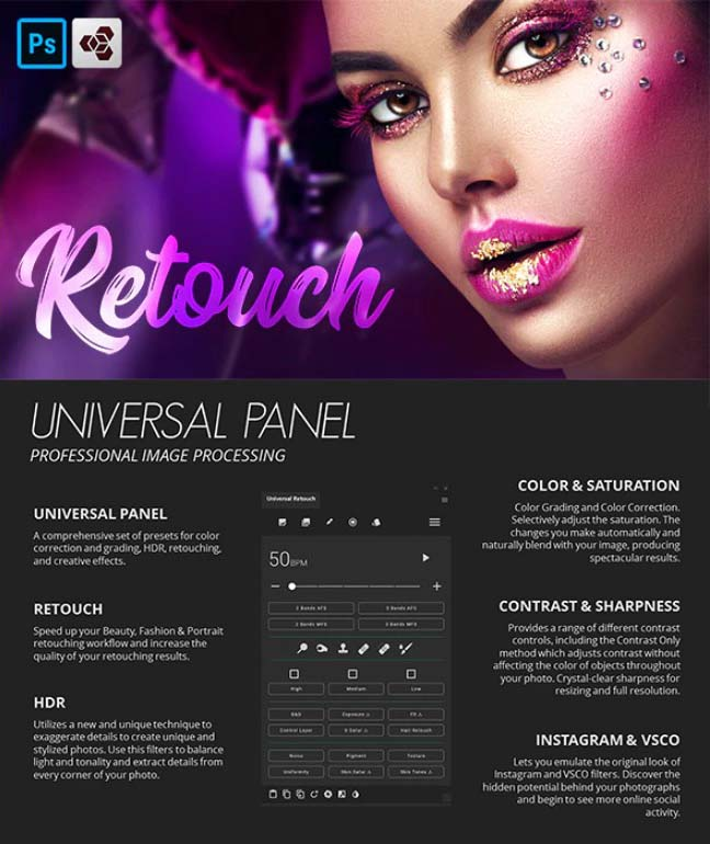 Retouch Panel For Photoshop