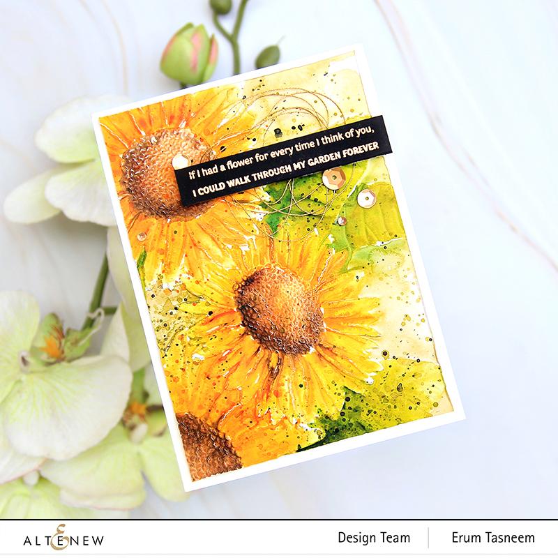 Altenew Sunflower Bundle 3D Embossing Folder | Erum tasneem | @pr0digy0