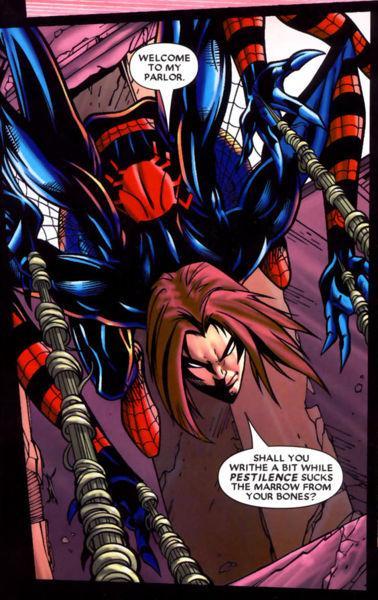 Un Spiderman malvado alternativo, jinete de Apocalipsis