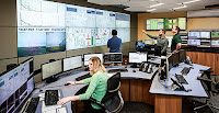 "The San Francisco control room of NaturEner, which monitors the output of Montana wind farms and blends it with hydropower to create ""firm"" power. (Credit: NaturEner) Click to Enlarge."