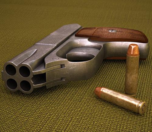 Cop 357 Derringer Fractal – họa tiết thiết kế nhỏ gọn