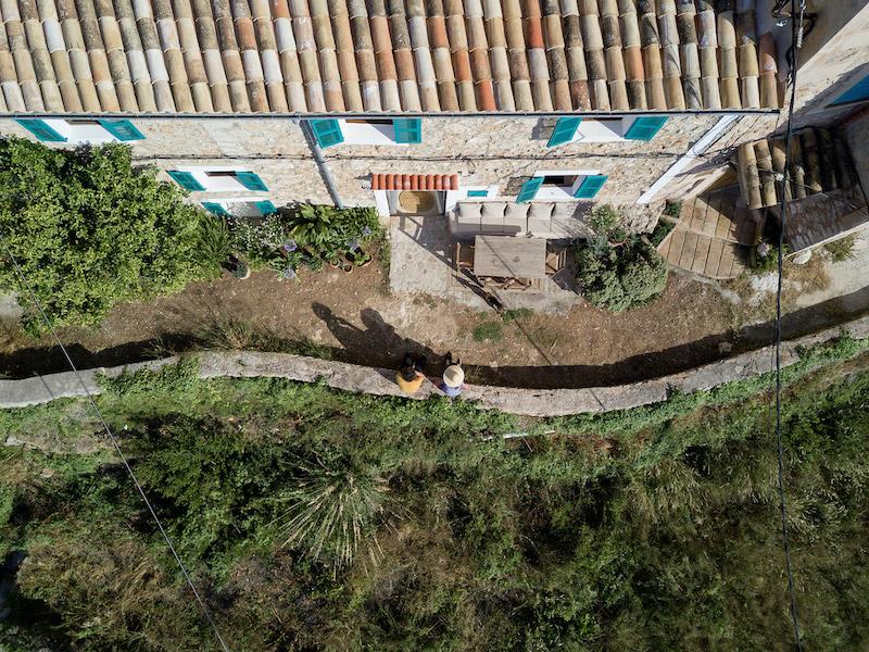 Vista aérea de casa Mallorca