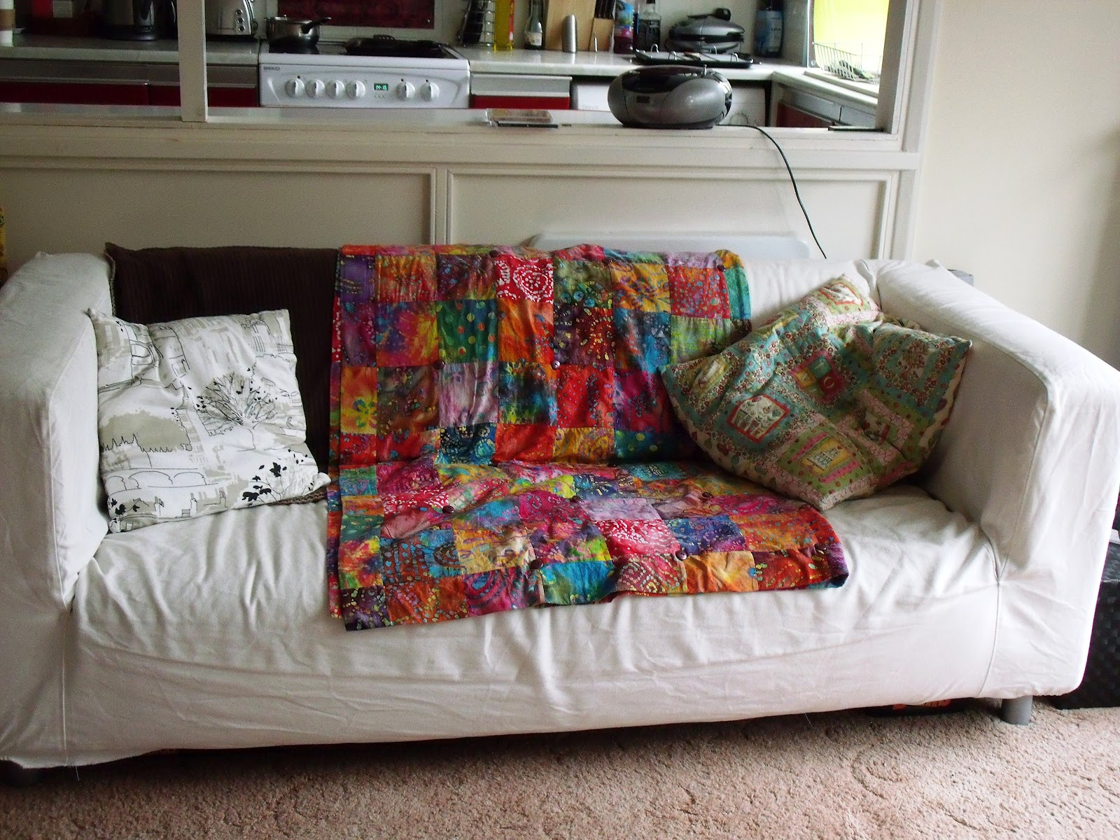 ikea klippan sofa cover red by design over at millie's: how to... dye a ...
