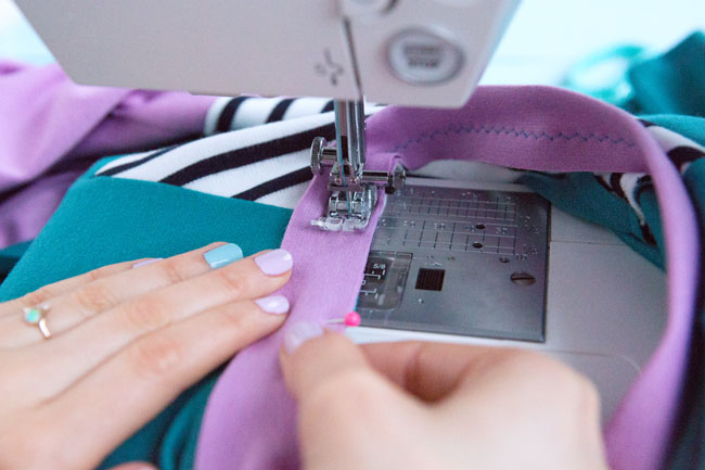 Sewing Zadie - How to attach a jersey neckband - Tilly and the Buttons