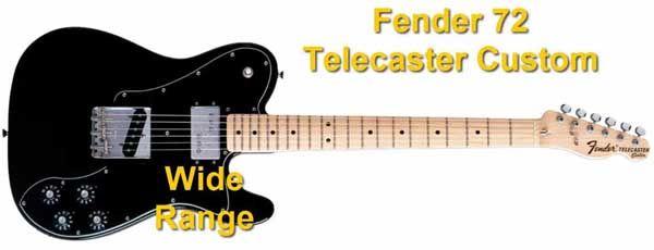 Fender 72 Telecaster Custom con Pastilla Doble Wide Range