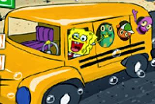 سبونج بوب لعبة اتوبيس المدرسه اون لاين Spongebob School Bus