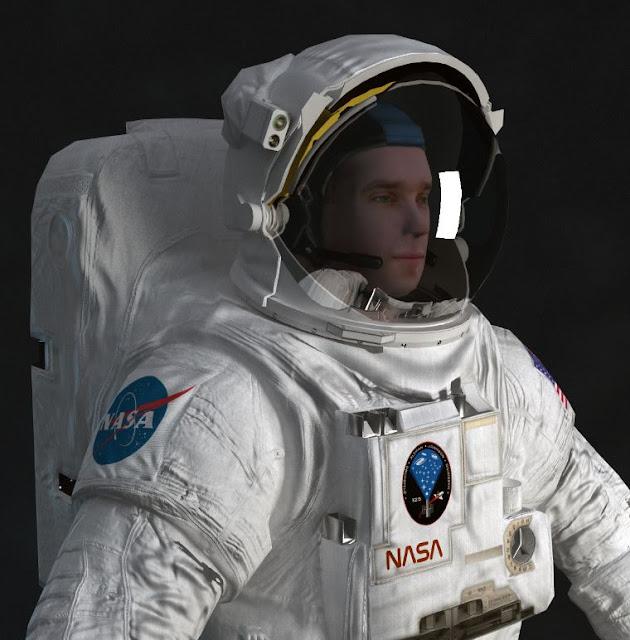 3dsMax高精度宇航員動畫3D模型下載