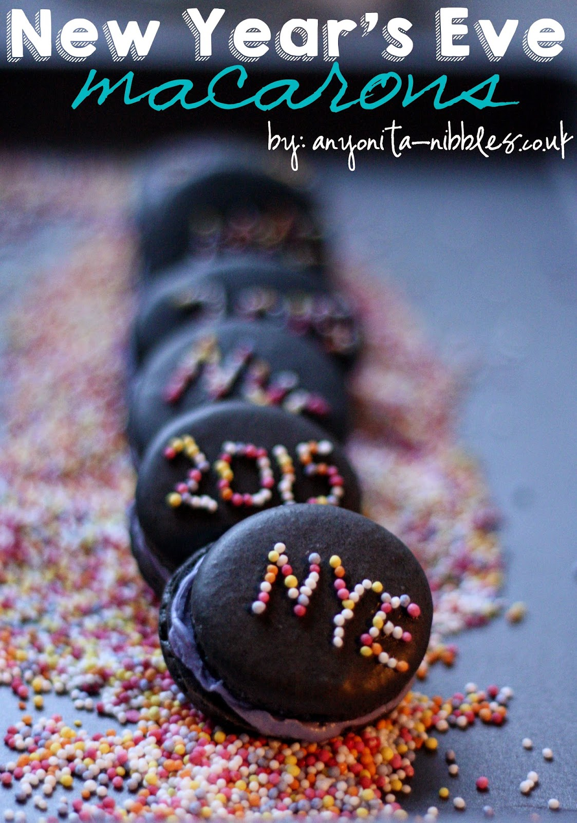 Happy New Year 2015 Macarons  from Anyonita-nibbles.co.uk
